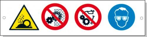 Cartelli pericolo rischi residui A