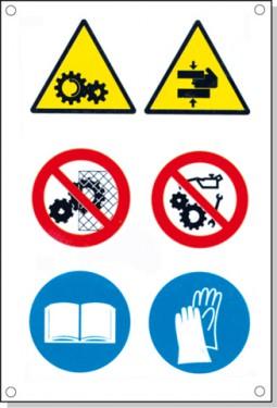 Cartelli pericolo rischi residui E