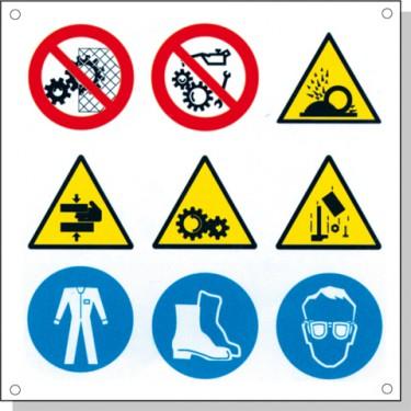 Cartelli pericolo rischi residui G