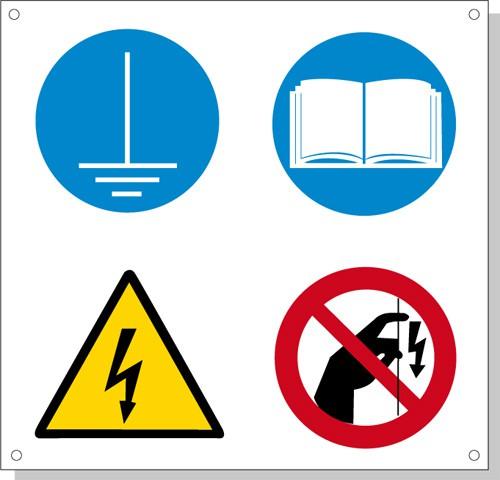 Cartelli pericolo rischi residui N